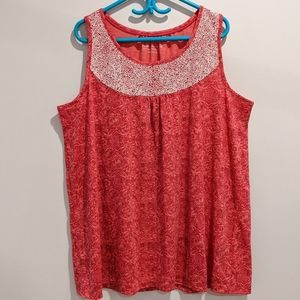 2/$20 Penningtons pink relaxed fit tank top 2X